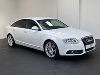 USED 2011 11 AUDI A6 2.0 TDI S LINE SPECIAL EDITION 4d 168 BHP WHITE + SERVICE HISTORY + SAT NAV + LEATHER + FINANCE + PART EX
