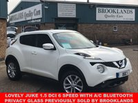 USED 2015 15 NISSAN JUKE 1.5 ACENTA DCI 5 DOOR ARTIC WHITE 110 BHP Lovely Juke 1.5 DCi 6 Speed Previously sold by Brooklands