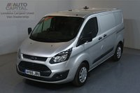 USED 2015 65 FORD TRANSIT CUSTOM 2.2 290 ECONETIC L1 H1 99 BHP NO VAT AIR CON, F-R PARKING SENSORS, DEADLOCK