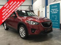 "USED 2012 62 MAZDA CX-5 2.2 D SPORT NAV 5d 173 BHP AWD, Full Mazda Service History, Heated Leather Seats, Satellite Navigation, Bluetooth Phone/Media Streaming, Front and Rear Parking Sensors, Rear Camera, Auto Lights/Wipers, Cruise Control, Dual Zone Climate, Keyless Entry/Start, Power Fold Mirrors, Electric Front Seats, Remote Central Locking - 2 Keys, 19"" Alloys"