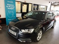 USED 2014 14 AUDI A3 2.0 TDI SPORT 5d AUTO 148 BHP Three private owners, full service history- Audi digital report & one local workshop, March 2020 Mot. Finished in Phantom Black Pearl with Black cloth seats.