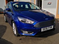 "USED 2016 16 FORD FOCUS 2.0 TITANIUM X TDCI 5d 148 BHP 17"" Alloys, 1/2 Leather, Bluetooth, Ford I SYNCH, Parking Sensors, Park Pilot, Heated Front Screen, Cruise Control"