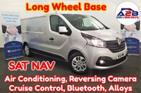 2016 RENAULT TRAFIC 1.6 DCI LL29 SPORT LONG WHEEL BASE in Silver with Sat Nav, Air Conditioning, Cruise Control, Reversing Camera, Bluetooth, Rear Parking Sensors, Alloy Wheels plus much more £11480.00