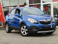 USED 2016 66 VAUXHALL MOKKA 1.6 TECH LINE CDTI ECOFLEX S/S 5d 134 BHP STUNNING, 1 OWNER, VAUXHALL MOKKA1.6 TECH LINE CDTI 134 BHP. Finished in BORACAY BLUE METALLIC with contrasting grey cloth trim. This is one of the most popular in the compact SUV market together with its premium package and SAT NAV, its a must have family suv. Features also include DAB radio, B/Tooth, Cruise Control, Park Sensors and much more. Dealer serviced at 19031 mioles, 35851 miles and recently at 42758 miles. MOT due 11/09/2020.