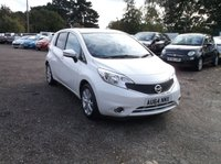 USED 2014 64 NISSAN NOTE 1.2 ACENTA PREMIUM DIG-S 5d AUTO 98 BHP Economical, Reliable Note! £30 Per Year Road Tax! FSH and New MOT Put On!