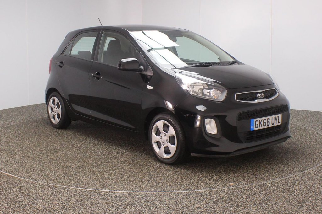 USED 2016 66 KIA PICANTO 1.0 1 AIR 5DR 1 OWNER 65 BHP KIA SERVICE HISTORY + £20 12 MONTHS ROAD TAX + BLUETOOTH + AIR CONDITIONING + RADIO/CD/AUX/USB + MULTI FUNCTION WHEEL + ELECTRIC WINDOWS
