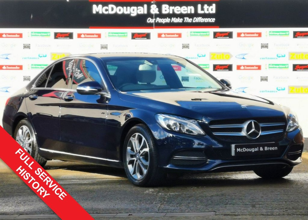 USED 2015 15 MERCEDES-BENZ C CLASS 1.6 C200 BLUETEC SPORT 4d AUTO 136 BHP COMMAND SAT NAV. UPGRADED INTERIOR. FULL MERCEDES HISTORY