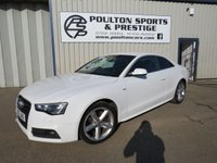 USED 2012 12 AUDI A5 2.0 TDI S LINE COUPE + NAPPA HEATED LEATHER + SAT NAV + FSH
