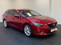 USED 2014 14 MAZDA 6 2.2 D SPORT 5d 173 BHP LOW MILES + HISTORY + 19 INCH ALLOYS + CREAM LEATHER + PRIVACY GLASS