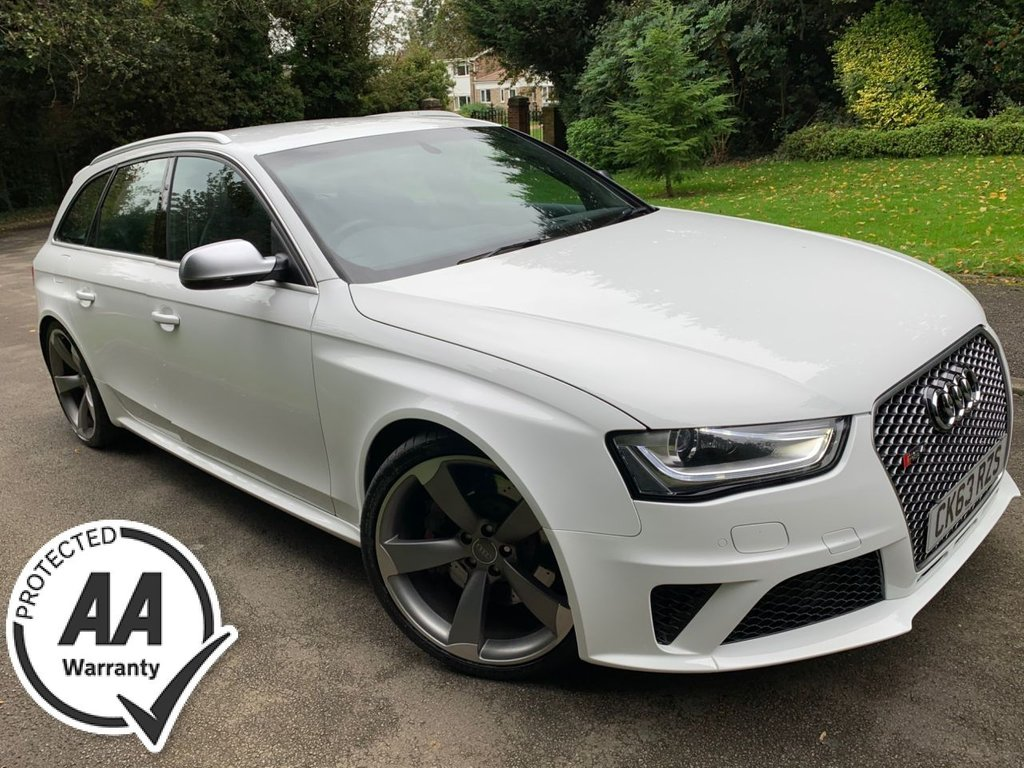 USED 2013 63 AUDI A4 Audi RS4 Avant 4.2 S Tronic quattro 5dr FINE NAPPA LEATHER, SAT NAV