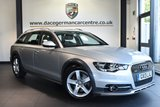 """USED 2013 13 AUDI A6 AllRoad 3.0 ALLROAD TDI QUATTRO 5DR AUTO 241 BHP full service history Finished in a stunning metallic silver styled with 18""""alloys. Upon opening the drivers door you are presented with full black leather interior, full service history, satellite navigation, bluetooth, heated seats, dab radio, cruise control, climate control, heated mirrors, parking sensors"""