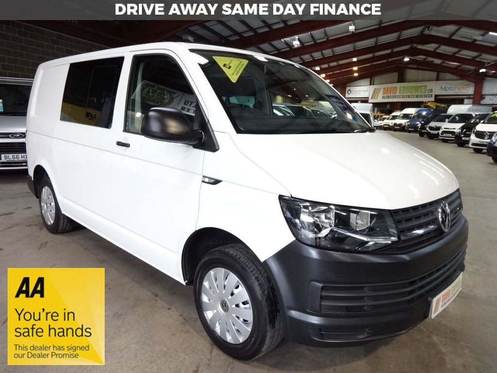 USED 2016 66 VOLKSWAGEN TRANSPORTER 2.0 T30 TDI KOMBI STARTLINE BMT 102 BHP SWB WINDOW VAN - AA DEALER WARRANTY PROMISE - TRADING STANDARDS APPROVED