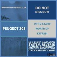 USED 2016 PEUGEOT 308 2.0 BlueHDi GT EAT6 5dr 1 OWNER*SATNAV*REV CAMERA