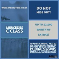 USED 2015 65 MERCEDES-BENZ C CLASS 2.1 C220d Sport 7G-Tronic+ (s/s) 4dr 1 OWNER*SATNAV*PARKING AID