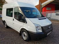 2013 FORD TRANSIT 280 SWB Medium roof 6 Seat Crew Van *ONLY 47000 MILES* £8495.00