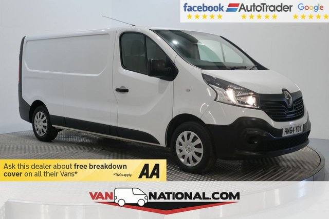 USED 2014 64 RENAULT TRAFIC 1.6 LL29 BUSINESS DCI P/V 115 BHP (LWB LOW MILES WITH SAT NAV)