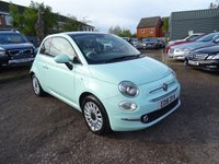 USED 2016 16 FIAT 500 1.2 LOUNGE 3d 69 BHP 1 PREVIOUS KEEPER MARCH 2020 MOT