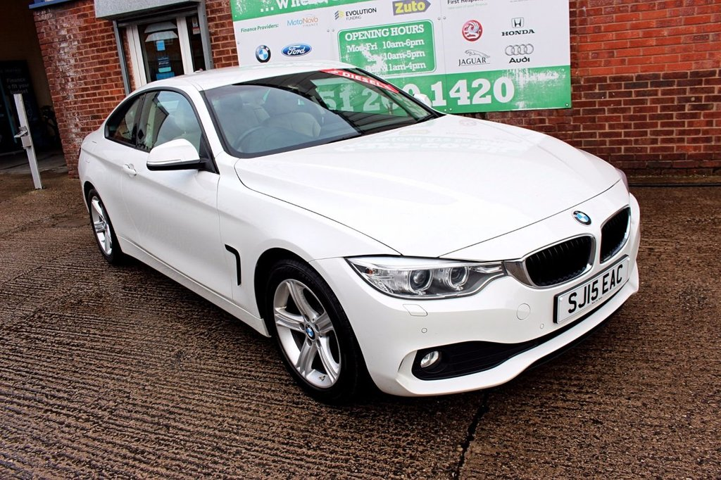 USED 2015 15 BMW 4 SERIES 2.0 420D SE 2d 181 BHP +ONE OWNER +LEATHER +SAT NAV.