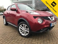 2015 NISSAN JUKE 1.6 ACENTA PREMIUM XTRONIC 5d AUTO 117 BHP IN METALLIC RED WITH 43700 MILES, FULL SERVICE HISTORY, 1 OWNER AND IS ULEZ COMPLIANT £9299.00