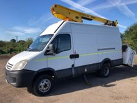2008 IVECO DAILY 3.0 50C15V 144 BHP MWB CHERRY PICKER WITH VERSA EUROTEL 38NF EQUIP £7995.00