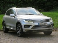 USED 2017 66 VOLKSWAGEN TOUAREG 3.0 V6 R-LINE TDI BLUEMOTION TECHNOLOGY 5d AUTO 259 BHP IMMACULATE WITH PAN ROOF & NAV!