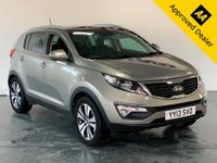 2013 KIA SPORTAGE 2.0 CRDI KX-3 SAT NAV 5d 134 BHP IN METALLIC SILVER WITH ONLY 73000 MILES, FULL SERVICE HISTORY AND A GREAT SPEC £8299.00