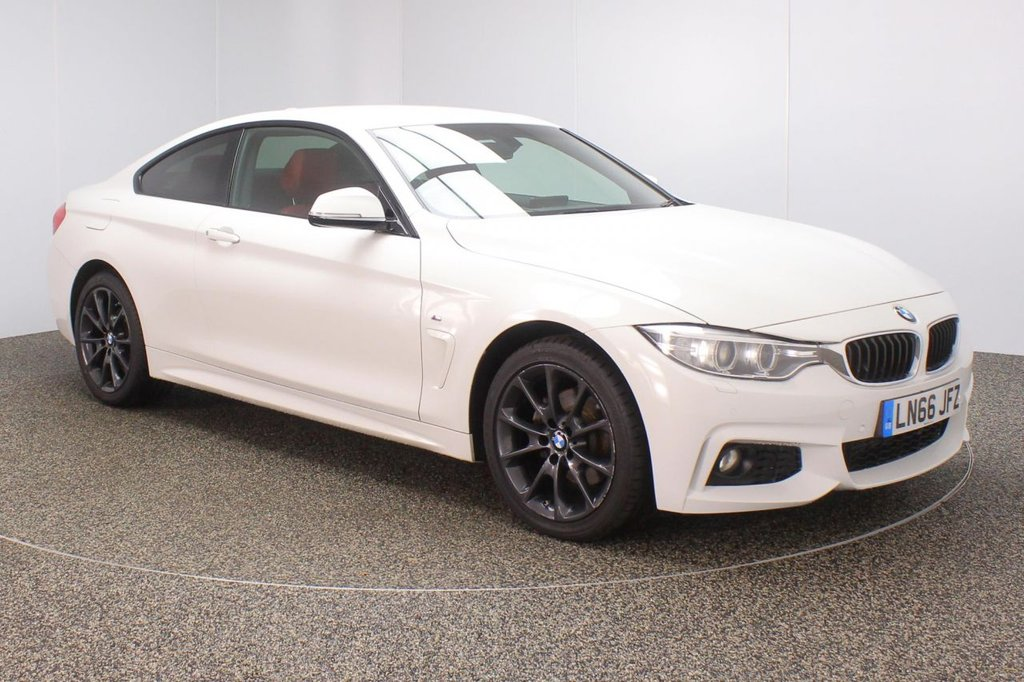 USED 2016 66 BMW 4 SERIES 2.0 420D XDRIVE M SPORT 2DR SAT NAV HEATED LEATHER SEATS 188 BHP FULL SERVICE HISTORY + HEATED LEATHER SEATS + SATELLITE NAVIGATION PROFESSIONAL + PARKING SENSOR + BLUETOOTH + CRUISE CONTROL + CLIMATE CONTROL + MULTI FUNCTION WHEEL + XENON HEADLIGHTS + DAB RADIO + PRIVACY GLASS + RADIO/CD/AUX/USB + ELECTRIC WINDOWS + ELECTRIC MIRRORS + 18 INCH ALLOY WHEELS
