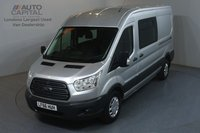 USED 2016 66 FORD TRANSIT 2.2 350 TREND RWD L3 H2 124 BHP 9 SEATS COMBI ULEZ COMPLIANT AIR CON, FRONT- REAR PARKING SENSORS