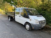 USED 2007 07 FORD TRANSIT 2.4 T350 100BHP DOUBLE CREW CAB TIPPER 80 NO VAT