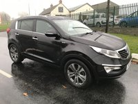 USED 2010 60 KIA SPORTAGE 2.0 CRDI FIRST EDITION AWD 4X4 BLACK/BLACK LEATHER
