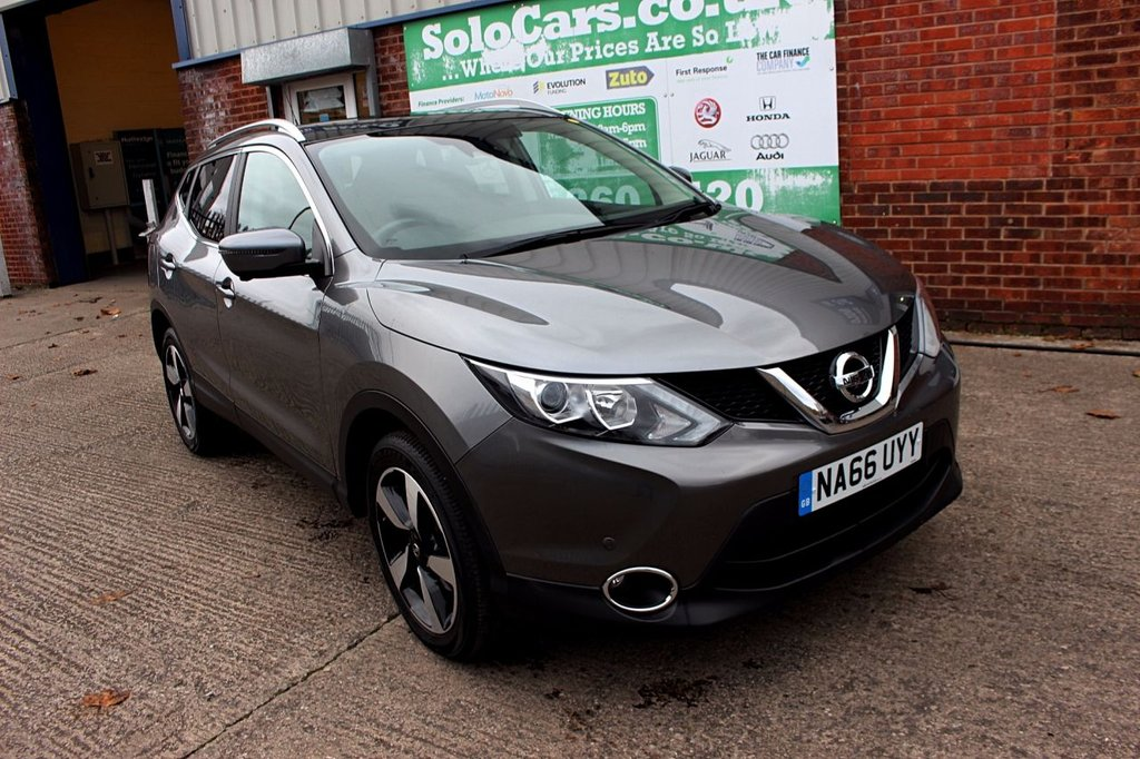 USED 2016 66 NISSAN QASHQAI 1.5 N-CONNECTA DCI 5d 108 BHP +ONE OWNER +PAN ROOF +FSH.