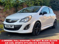 USED 2014 14 VAUXHALL CORSA 1.2 LIMITED EDITION 3d 83 BHP 2 OWNERS, FULL SERVICE HISTORY, 1YR MOT, STUNNING CAR, ALLOYS, AIR CON, RADIO CD, E/WINDOWS, R/LOCKING, FREE WARRANTY, FINANCE AVAILABLE, HPI CLEAR, PART EXCHANGE WELCOME,