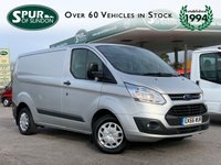 USED 2016 66 FORD TRANSIT CUSTOM 2.2 290 TREND LR P/V 125 BHP ULEZ COMPLIANT EURO 6, Finance Arranged, Parking Censors.