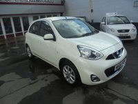USED 2014 64 NISSAN MICRA 1.2 ACENTA 5d AUTO 79 BHP Retail price £7995,with £500 minimum part exchange allowance,balance price £7495.
