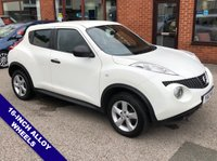 """USED 2012 12 NISSAN JUKE 1.6 VISIA 5d 117 BHP AUX Socket :  Air Conditioning :  Front & Rear Electric Windows :  16"""" Alloy Wheels :  Service History"""
