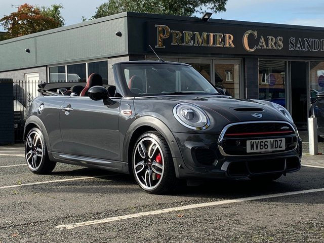 USED 2016 66 MINI CONVERTIBLE 2.0 JOHN COOPER WORKS 2d AUTO 228 BHP