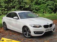 USED 2015 65 BMW 2 SERIES 2.0 218D SPORT 2d 148 BHP SATELLITE NAVIGATION, ALLOYS