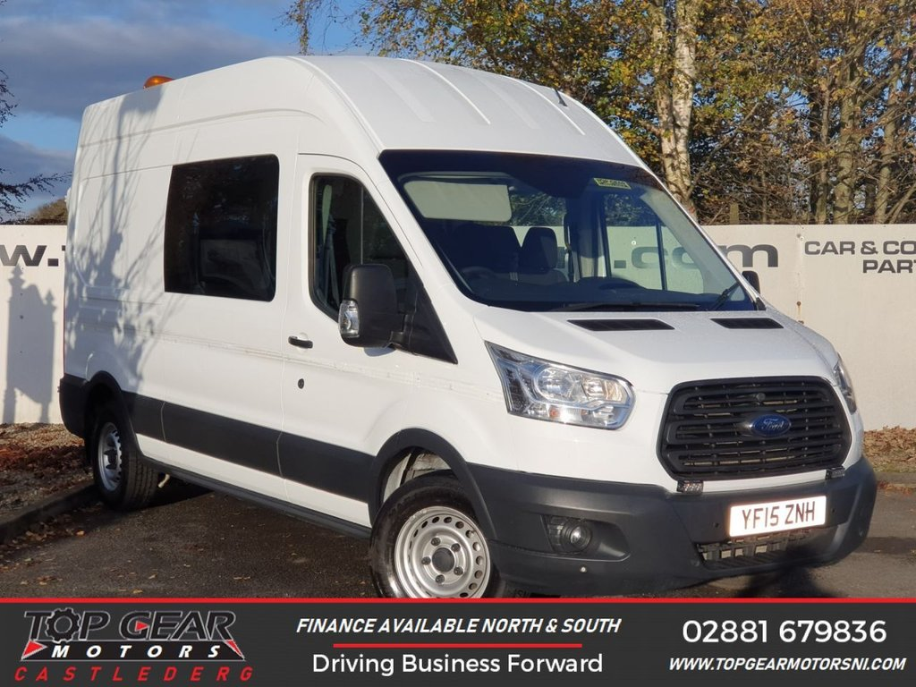 USED 2015 15 FORD TRANSIT 350 RWD  2.2 125 BHP L3 H3 8 SEAER MESS**OVER 90 VANS IN STOCK**