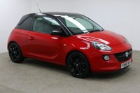 USED 2016 66 VAUXHALL ADAM 1.2 ENERGISED 3d 69 BHP FINISHED IN A STUNNING RED + 1 OWNER + FULL SERVICE HISTORY + CRUISE CONTROL + AIR CON + AUX/USB + LEATHER