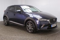USED 2016 66 MAZDA CX-3 1.5 D SPORT NAV 5DR SAT NAV HEATED HALF LEATHER 1 OWNER 104 BHP FULL MAZDA SERVICE HISTORY + £20 12 MONTHS ROAD TAX + HEATED HALF LEATHER SEATS + SATELLITE NAVIGATION + HEAD-UP DISPLAY + REVERSE CAMERA + PARKING SENSOR + HEATED STEERING WHEEL + BOSE PREMIUM SPEAKERS + BLUETOOTH + CRUISE CONTROL + AIR CONDITIONING + MULTI FUNCTION WHEEL + XENON HEADLIGHTS + DAB RADIO + PRIVACY GLASS + ELECTRIC WINDOWS + ELECTRIC MIRRORS + 18 INCH ALLOY WHEELS
