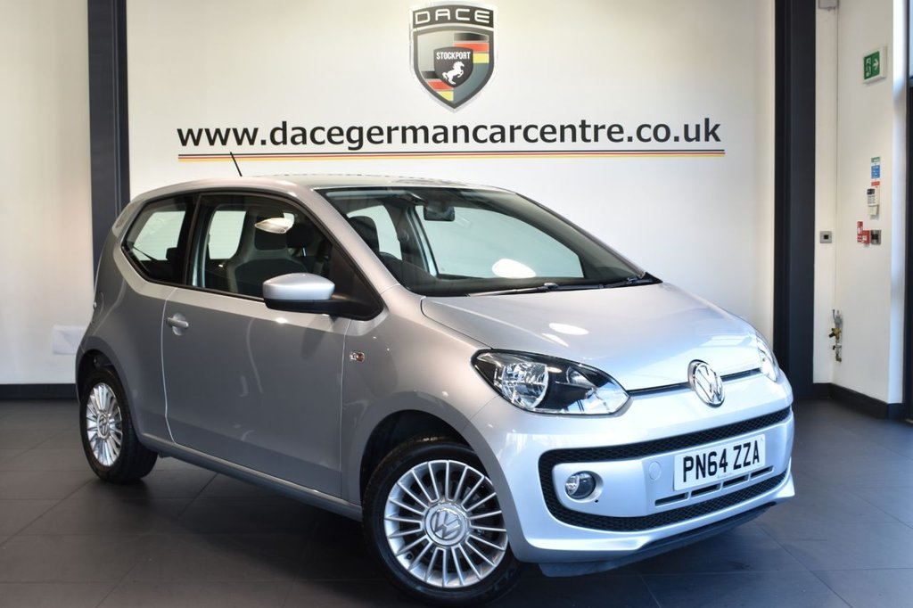 "USED 2015 64 VOLKSWAGEN UP 1.0 HIGH UP 3DR 74 BHP full service history Finished in a stunning reflex metallic silver styled with 15"" alloys. Upon opening the drivers door you are presented with cloth upholstery, full service history, heated seats , £20 road tax, ideal first car, air conditioning, heated mirrors, heated windscreen"
