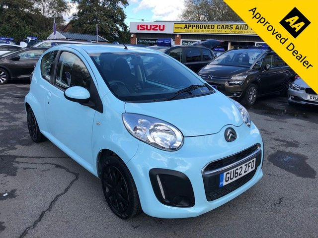 USED 2012 62 CITROEN C1 1.0 VTR 3d 67 BHP IN LIGHT BLUE WITH 56000 MILES, FULL SERVICE HISTORY, 2 OWNERS, GREAT SPEC AND IS ULEZ COMPLIANT  Approved Cars are pleased to offer this stunning lady owned Citroen C1 1.0 VTR in light blue with only 56000 miles, This is an immaculate city car and has been well looked after and maintained and comes with a full service history. It has a great spec including DAB radio, Alloy wheels, AUX, ABS, power steering, electric windows, aircon and much much more. For more information or to book a test drive please call our sales team on 01622 871555. Full dealer facilities are available including specia