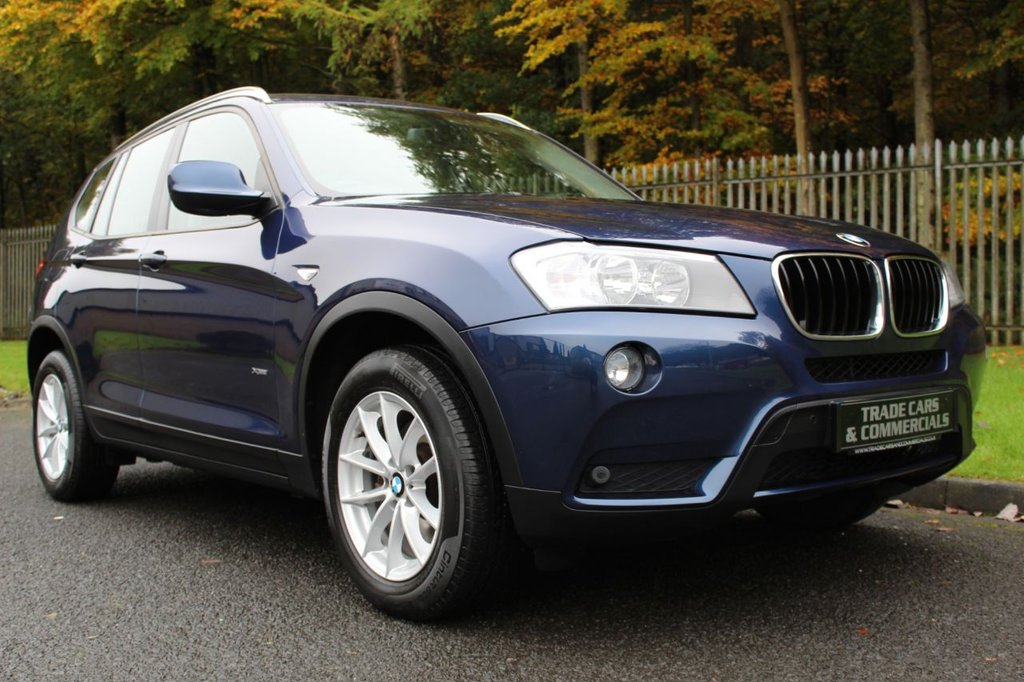 USED 2012 12 BMW X3 2.0 XDRIVE20D SE 5d AUTO 181 BHP A LOW MILEAGE, GOOD SPECIFICATION CAR WITH PRO NAV AND BLACK LEATHER!!!