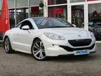 USED 2015 65 PEUGEOT RCZ 1.6 THP GT 2d 156 BHP STUNNING, 1 OWNER, PEUGEOT RCZ 1.6 THP GT. Finished in PEARL WHITE METALIC with contrasting FULL HEATED MEMORY LEATHER TRIM. This pretty looking RCZ strikes a balance between style and practicality, comfort and handling. It's great to drive, frugal and well equipped, plus surprisingly practical when used as a two-seater. Features include, Heated Electric memory Leather seats, Park Sensors, Power folding mirrors, 2 Keys and much more.