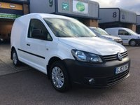 USED 2013 63 VOLKSWAGEN CADDY 1.6 C20 TDI STARTLINE BLUEMOTION TECHNOLOGY 101 BHP AUTO RARE AUTOMATIC WITH GREAT SPEC, FINANCE ARARNGED & 6 MONTHS WARRANTY. Full service history - 4 Services - 3 Main Agent Services, Last Service - full engine service 30/10/2019 @ 97,904. Automatic, A/C, Parking Sensors, E/W, heated seats, cruise control, front fog lights, Radio/CD, Cruise control, Drivers airbag, Factory fitted bulk head, ply lined, remote Central Locking, Drivers Airbag, Radio, Barn Rear Doors, spare key, 6 months premium Autoguard warranty on every van & finance arranged