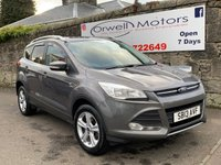 USED 2013 13 FORD KUGA 2.0 ZETEC TDCI 5d 138 BHP FINANCE AVAILABLE+2 OWNERS FROM NEW+CRUISE CONTROL+FOUR WHEEL DRIVE