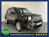 USED 2016 66 JEEP RENEGADE 1.4 LONGITUDE 5d AUTO 138 BHP FULL JEEP HISTORY - 1 OWNER - SAT NAV - REAR SENSORS - AIR CON - BLUETOOTH - DAB - CRUISE - PRIVACY