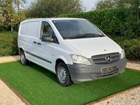 USED 2013 13 MERCEDES-BENZ VITO 2.1 113 CDI 136 BHP A VERY CLEAN VAN WITH ONLY VERY LIGHT USE WITH A FULL AND DETAILED SERVICE HISTORY PAERT PLY LINED AND FACTORY BULKHEAD FITTED THREE SEATER CABIN WITH AIR CONDITIONING SUPERB DRIVER