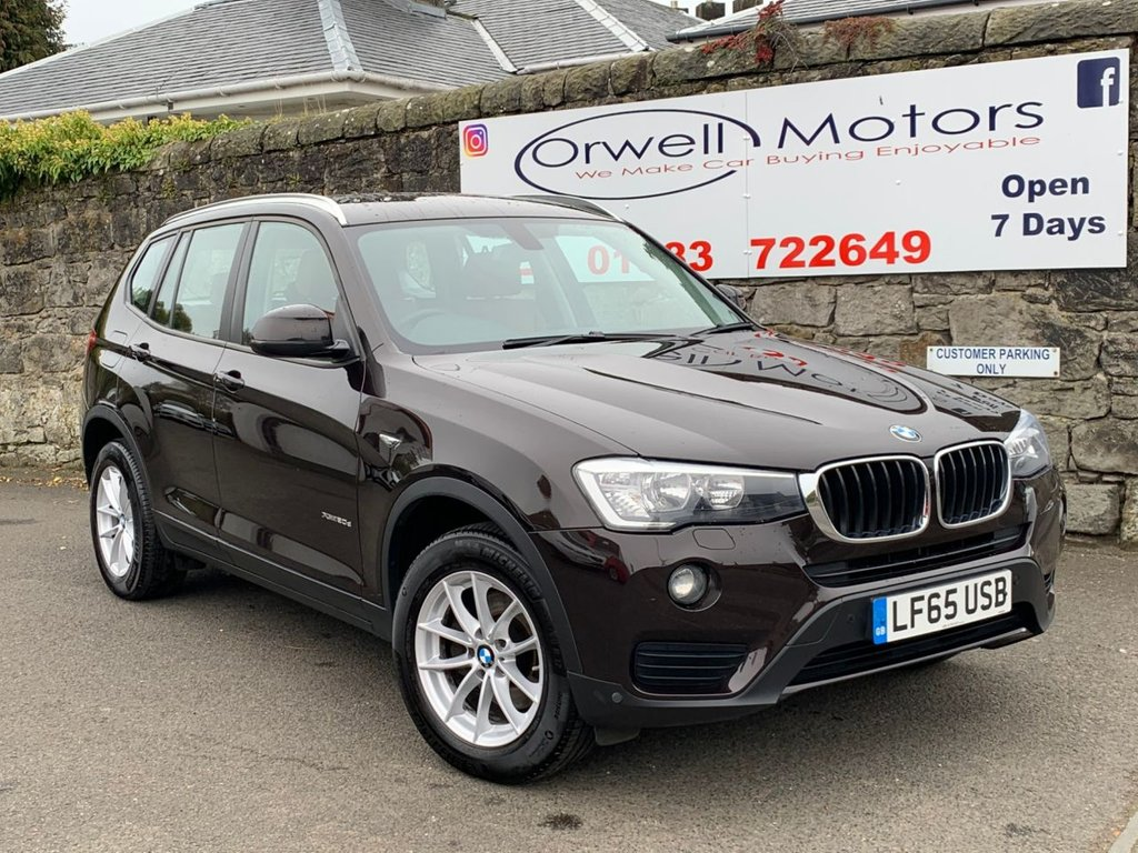 USED 2015 65 BMW X3 2.0 XDRIVE20D SE 5d 188 BHP 1 OWNER+FULL SERVICE HISTORY+SATELLITE NAVIGATION+FINANCE AVAILABLE+LEATHER SEATS