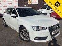 2013 AUDI A3 1.6 TDI SE 5d 104 BHP IN WHITE WITH ONLY 73000 MILES, FULL SERVICE HISTORY, 2 OWNERS AND A HUGE SPEC INCLUDING SAT NAV £7799.00